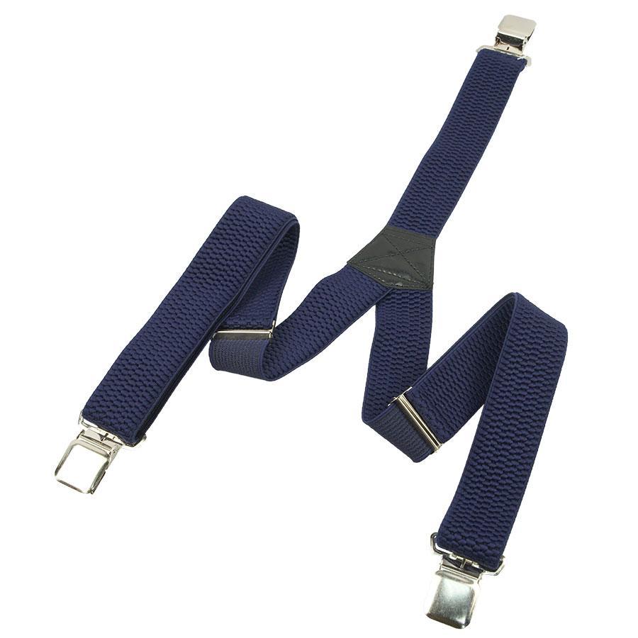 Темно-сині широкі чоловічі підтяжки Top Gal 40-Y dark-blue