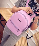 Рюкзак женский городской кожзам Melorin Фиолетовый, фото 1