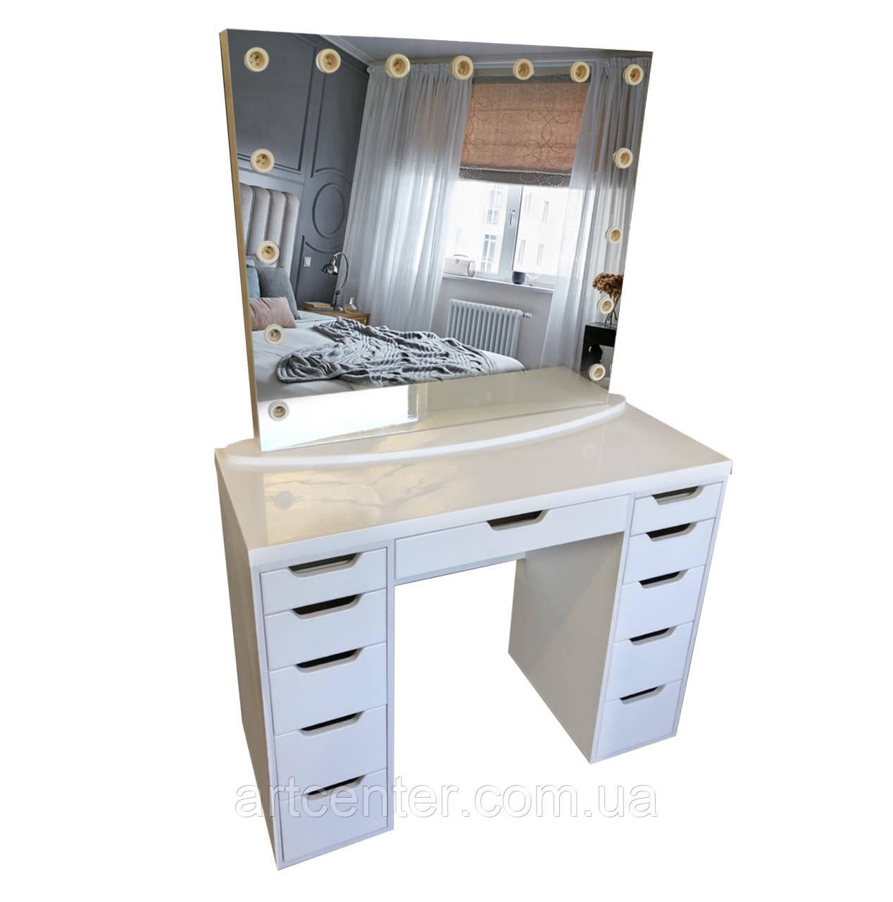 Стіл для візажиста, туалетний столик, гримерный столик з ящиками