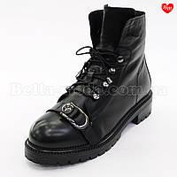 Женские ботинки с пряжкой на носке, фото 1