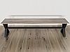Комплект регулируемых опор с перемычкой для скамейки из металла, фото 2