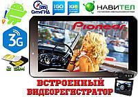 GPS навигатор Pioneer 7HD 3G на Android. 2 Sim, 16GB видеорегистратор+карты