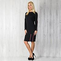 Женское молодежное трикотажное платье с отделкой Gucci. Размеры 40-46. Купить недорого от производителя.