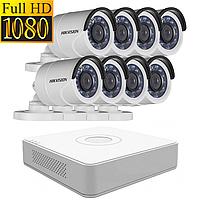 Комплект видеонаблюдения на 8 камер Hikvision IN/OUT 1080p
