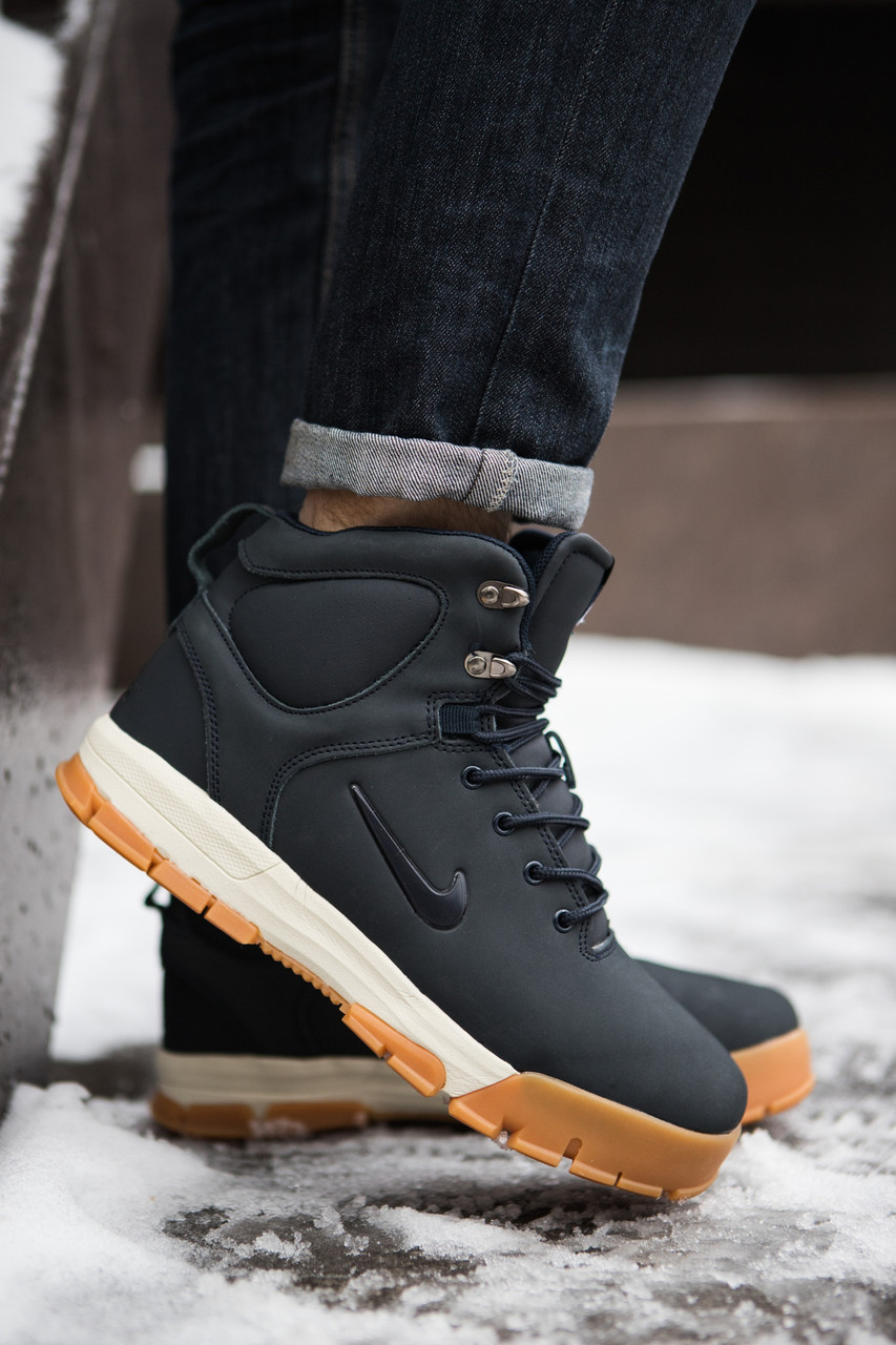 """Зимние кроссовки, ботинки на меху Nike Nevist """"Синие"""""""
