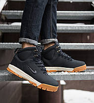 """Зимние кроссовки, ботинки на меху Nike Nevist """"Синие"""", фото 3"""