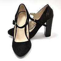 Туфли женские черные замшевые Mint&Berry, 37