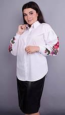 Новинка! необычная красивая блузка белого цвета большие размеры: 50-64, фото 3