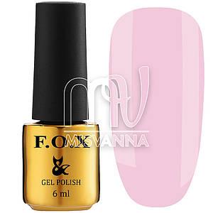 База каучуковая F.O.X Cover Base №004, 6 мл полупрозрачный холодно-розовый