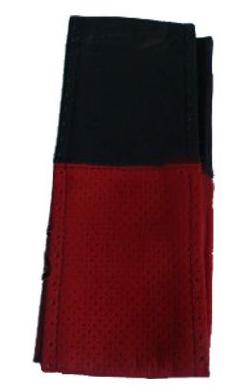 """Оплетка руля Elegant кожа """"премиум"""" цвет  черно-красный перфорированный размер M 37-38 см  EL 105 047"""