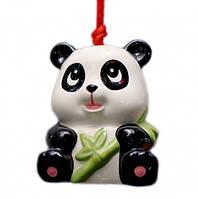 9320047 Панда - керамический колокольчик Черная