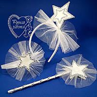 Набір Зірочка - зірочка на обідку, браслет, паличка ( шпилька, брошка), фото 1