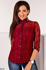 Гипюровая женская блуза размеры: 42,44,46