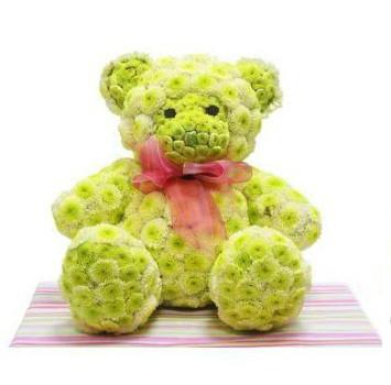 """Іграшка з квітів """"Ведмедик"""""""