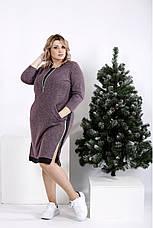 Женское теплое платье на каждый день размеры:42-74, фото 2