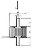 Амортизатор 30х20мм М8 (виброамортизатор) для віброплити, вібротрамбовки поліуретан., фото 2