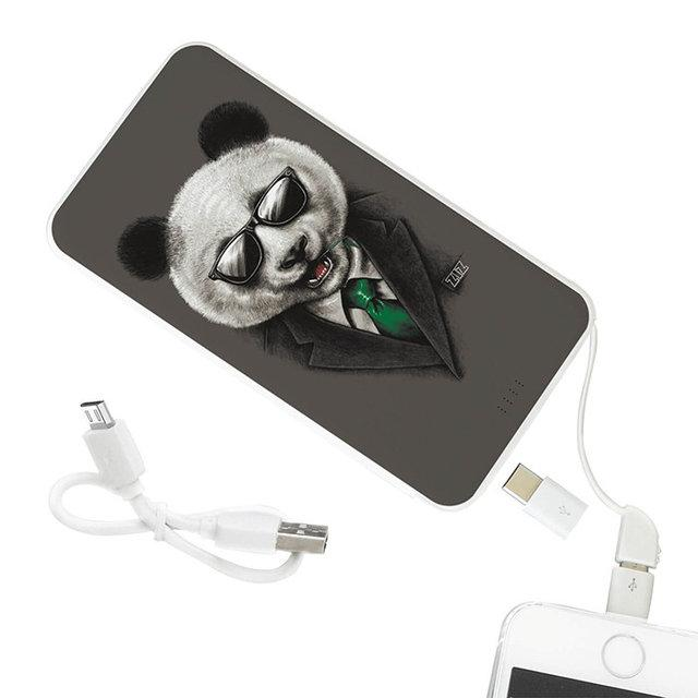 Портативная батарея на 5 000 мАч Панда в пиджаке