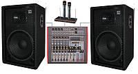 """Комплект звукове обладнання для караоке кафе, мощность 700Вт DJ15KAR2 2х350Вт, 15"""" Sound Division"""