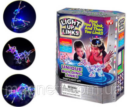 Дитячий світиться конструктор Light Up Links