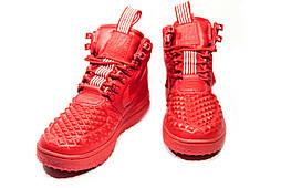 Зимние кроссовки (НА МЕХУ) женские Nike AF1 1-018 (реплика)