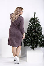 Женское теплое платье  бордового цвета на каждый день размеры:42-74, фото 2