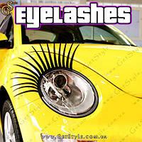 "Реснички на фары автомобиля - ""Eyelashes"" - 2 шт."
