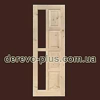 Двері з масиву дерева 70см (під скло) s_02703
