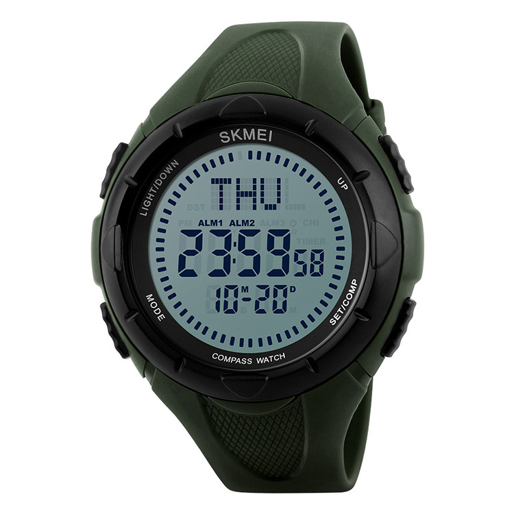 • Оригинал! Skmei(Скмей)1232 Compass Green | Cпортивные часы с компасом!