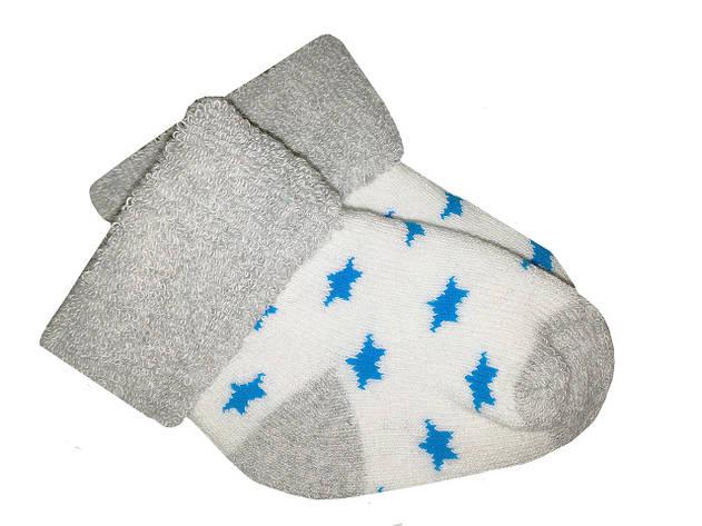 Носочки теплые махровые Biedronka  0-3 мес (серый), фото 2
