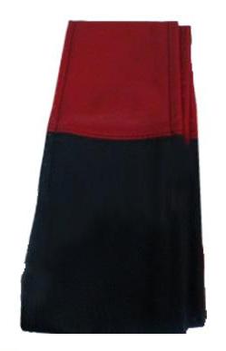 """Обплетення керма Elegant шкіра """"преміум"""" колір червоно-чорний розмір M 37-38 см EL 105 042"""