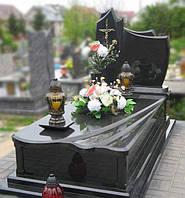 Одинарний пам'ятник з букинського граніту 010, фото 1