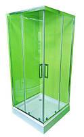Душевая кабина VERONIS KNS-90 90х90 низкий поддон, прозрачное стекло, Италия