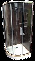 Душевая кабина Veronis KN-3-100 PREMIUM 100х100 прозрачное стекло, низкий поддон, Италия