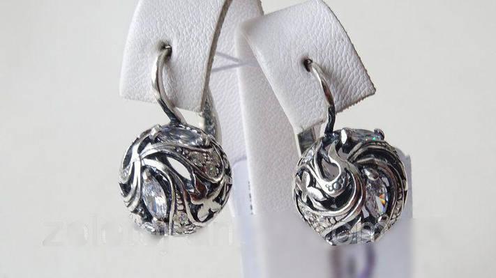 Серебряные серьги - шарики