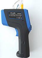 Пирометр FLUS IR-870 (-50…+1980 С) с термопарой К-типа (-50℃ до +1370℃) 50:1, картой памяти, ПО
