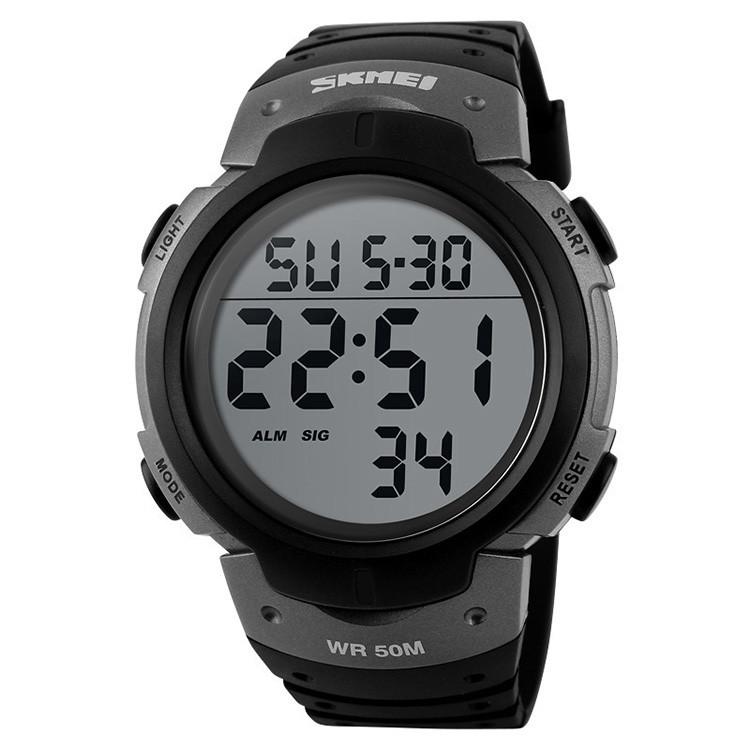 • Оригинал! Skmei(Скмей) 1068 Grey | Cпортивные мужские часы