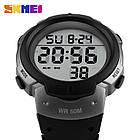 • Оригинал! Skmei(Скмей) 1068 Grey | Cпортивные мужские часы , фото 3