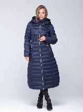 Стильная женская куртка CW17D698CW зимняя CLASNA синяя (#587)