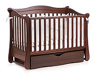 Детская кроватка Верес Соня ЛД 19 маятник+ящик (орех)