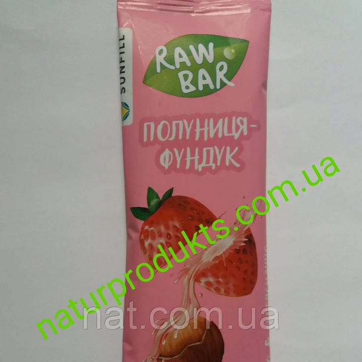 Батончик Клубника-Фундук ТМ Sunfill, 35г