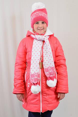 Детская модная теплая зимняя курточка на девочку, р.134-152., фото 2