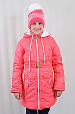 Детская модная теплая зимняя курточка на девочку, р.134-152., фото 3