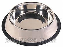 Миска з нержавіючої сталі на резинці 0,45 л, 14 см