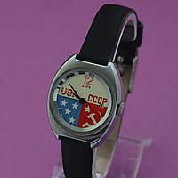 Заря USA СССР женские механические часы , фото 1
