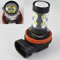 Светодиодная лампа SLP LED в противотуманные фонари с цоколем H11 Osram 60W Black 9-30V 950lm Белый