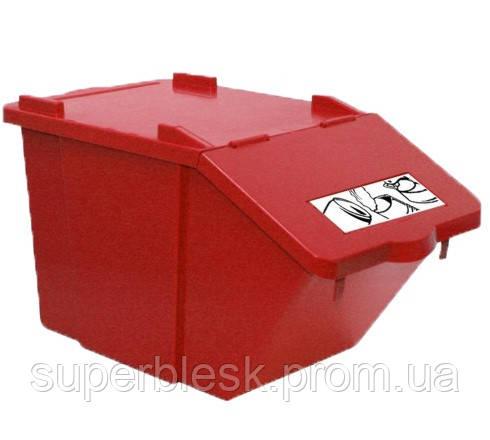 Контейнер для сортировки продукции Filmop 45л. Красный (3667B)