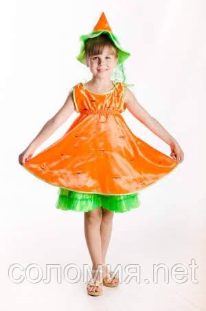 Детский карнавальный костюм для девочки Морковка 110-128р