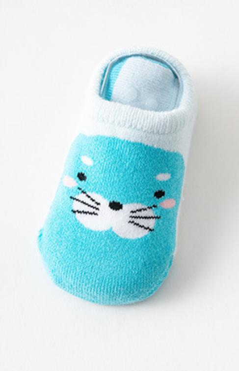 Носки следы противоскользящие с махровой подошвой Морской котик
