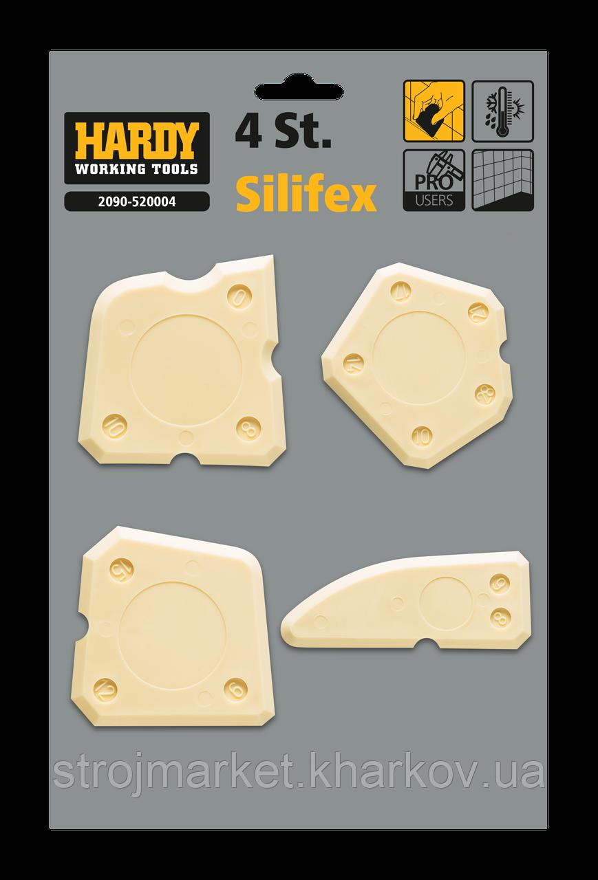 Набор шпателей для силиконового герметика Silifex TM Hardy(4шт)