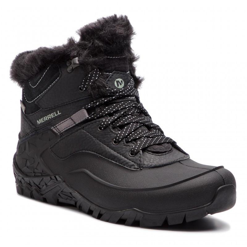 Оригинальные Ботинки женские Merrell AURORA 6 ICE+ WP J37216 Black Черные с мехом